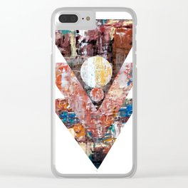 The blue line triangles II Clear iPhone Case