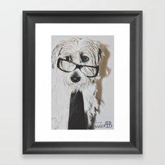 cool dog Framed Art Print