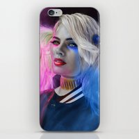 harley quinn iPhone & iPod Skins featuring Harley Quinn by DigitalCrow