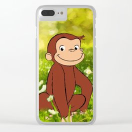Curious George Clear iPhone Case