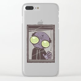 Office Zombie Clear iPhone Case