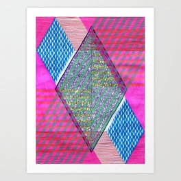 Isometric Harlequin #10 Art Print