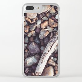 Dry Rock Beach Clear iPhone Case
