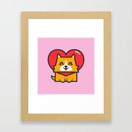 Dog Heart Framed Art Print