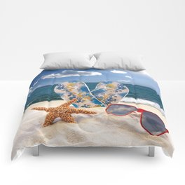 Summer Beach Vacation Comforters