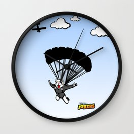 Skydiving Ferret Wall Clock