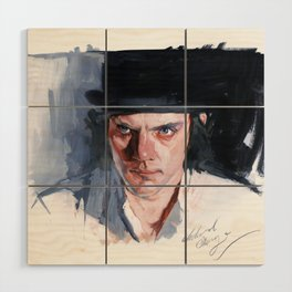 Malcolm McDowell Wood Wall Art