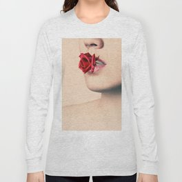 Red Rose Lips Long Sleeve T-shirt