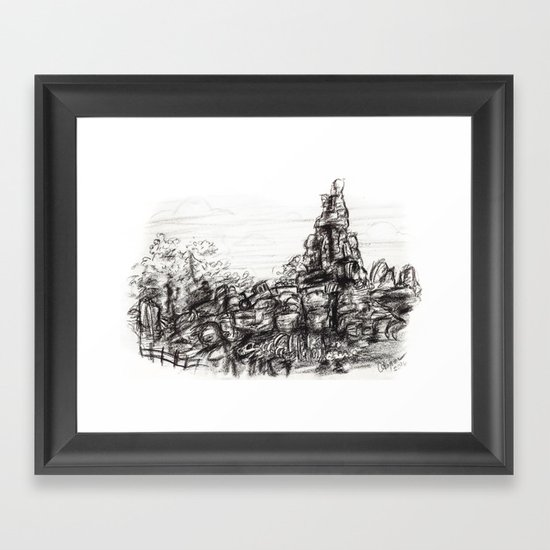 Big Thunder Mountain Framed Art Print