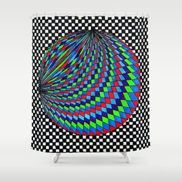Colourful Circle Shower Curtain