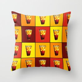 Ice Cold Drink Throw Pillow