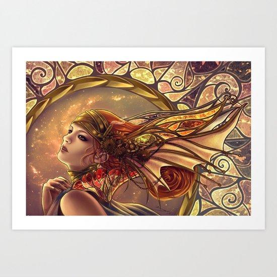 Bronze angel Art Print