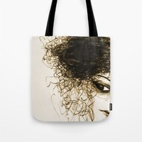transparent Tote Bags featuring Transparent by Sofia Karlström