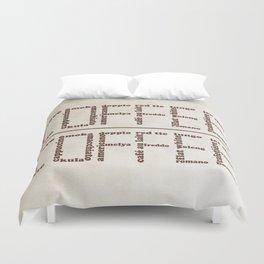 Coffee typography Duvet Cover