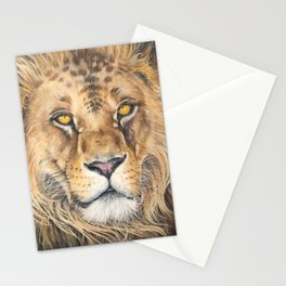 Lion with Golden Eyes Stationery Cards