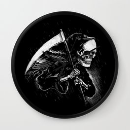 DEATH WILL HAVE HIS DAY Wall Clock