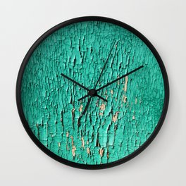 Shedding Green Wall Clock