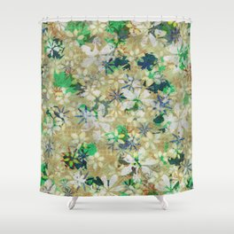 Autumn Petals on Coffee Cream Shower Curtain