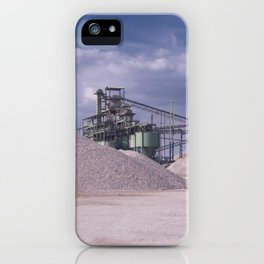DE - Gravel processing plant Rißtissen Germany iPhone Case