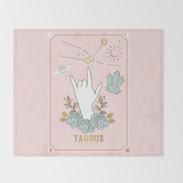 Taurus Zodiac Series Throw Blanket