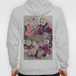 Wreath Of Pink and Purple Roses Hoody