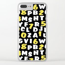 Numbers and letters 2 Clear iPhone Case