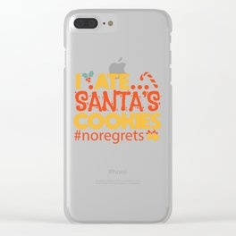 Christmas List Cheeky Kids Biscuits Gift Clear iPhone Case