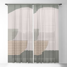 Abstract Composition 16 Sheer Curtain