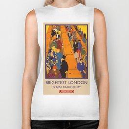 Vintage poster - Brightest London Biker Tank
