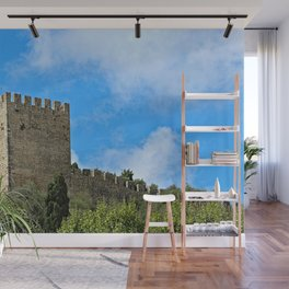 Medieval Fortress Castle Tower, Obidos Portugal Wall Mural