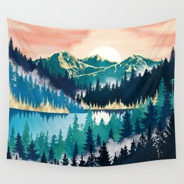 Lake Mist Wall Tapestry