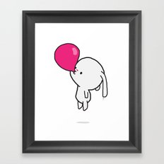 Mononoco with Bubble Gum  Framed Art Print