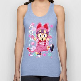 Arale Cat's pattern Unisex Tank Top