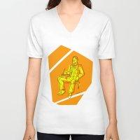 nietzsche V-neck T-shirts featuring The Dawn of Nietzsche by Duessa