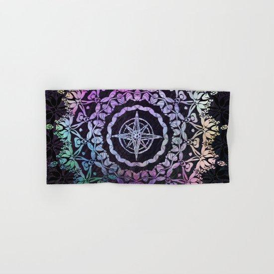 Dark Destination Mandala Hand & Bath Towel