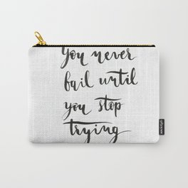 Einstein Calligraphy quote Carry-All Pouch