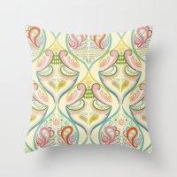 carnival Throw Pillows featuring Carnival by Pim-Pimlada Studio