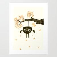 bat Art Prints featuring Bat by Yllya