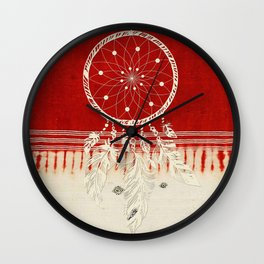 ARETERSTING V50 - Original Red Bohemian Moroccan Artwork Wall Clock