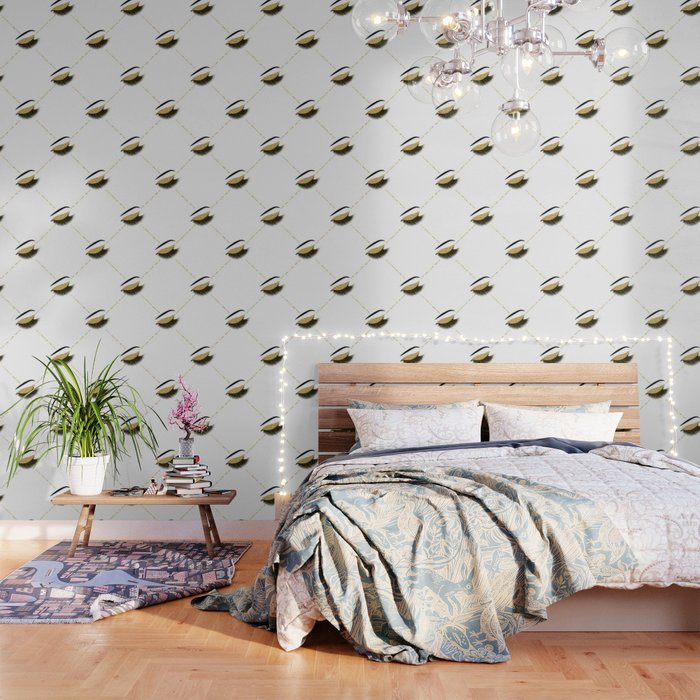 Lashes With Gold Glitter Wallpaper