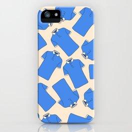 Shopping Blue Poloshirts iPhone Case