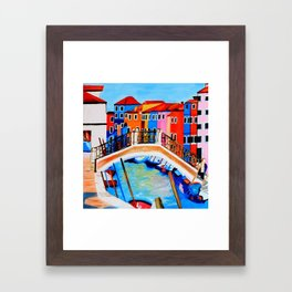 Colors of Venice Italy Framed Art Print