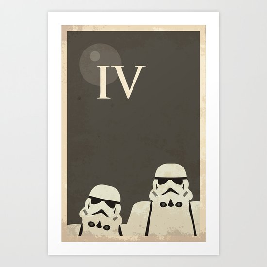 Star Wars Minimal Movie Poster Art Print