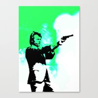 clint barton Canvas Prints featuring Clint by Fimbis