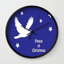 Peace At Christmas Greeting Card  Wall Clock