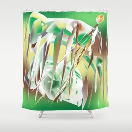 Windy Cold Day in Winter Shower Curtain
