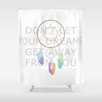 dreamcatcher Shower Curtains featuring Dreamcatcher  by Cute to Boot