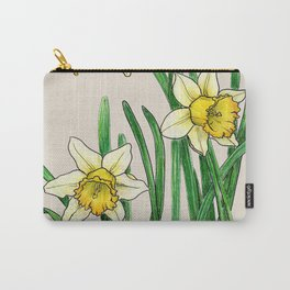 Botanical illustration of a narcissus Carry-All Pouch