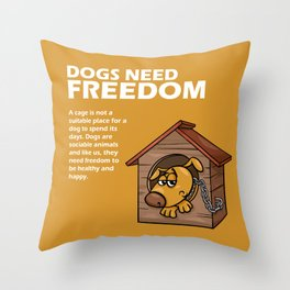 Doggy Tip 2 Throw Pillow