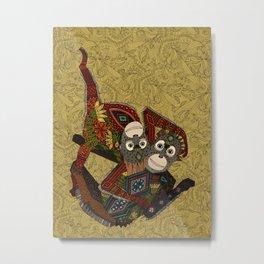 orangutans gold Metal Print
